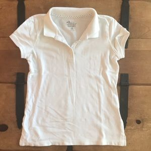 Old Navy Girls Size Large (10-12) White Polo Shirt